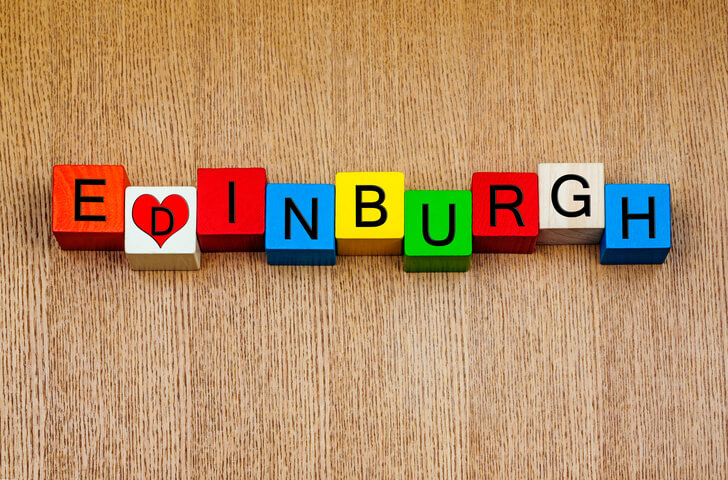 Edinburgh written in children's block letters